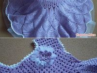 Crocheted baby clothes