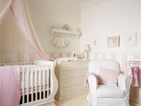 a style board for newborn baby nursery or bedrooms.