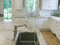Kitchen counters, sinks, faucets