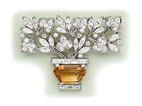 Vintage Zarah Cloisonn\u00e9 Enamel Figural Hummingbird Dangling Flower Sterling Silver 24k Gold Wash Brooch Pin