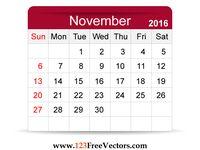 ... Calendar on Pinterest | Calendar templates, November calendar and 2016