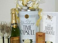 Save your milestone memories in this Wedding Time Capsule. Keep your Wedding day nostalgic item, honeymoon treasures, and first year of marriage momentos in this Wedding Time Capsule.