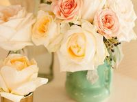 """A board with the potential to get too cluttered because, as one bride said """"all flowers are beautiful."""""""