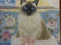 Ritratti di gatti di Angela Giuliani / Ritratti di gatti ripresi da una foto