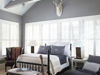 I am loving grey walls, but how to pick the right color? Here are some gorgeous grey walls by famous paint makers.