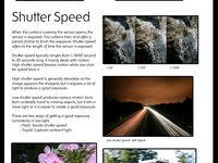 Infographics regarding photography