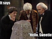 """""""Hello Sweetie!""""  I love the Doctor.  Our family has a slight Doctor Who obsession. I blame my British husband..."""