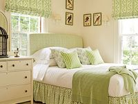 Bedroom Green white brown