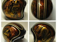 The endless variety of artful motorcycle helmets. And a few other helmets.