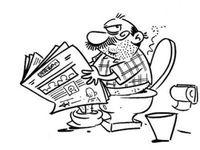 Dibujo De Hombre Defecando En Un Inodoro Para Pintar Y Colorear Senor Haciendo Popo Y Leyendo La Prensa En Un Dibujos Para Colorear Dibujos De Hombres Dibujos