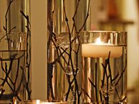 Center pieces  with candles