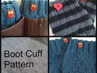Knit and crochet for keep warm your legs and feet
