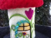 0 A Felted Houses and Landscapes