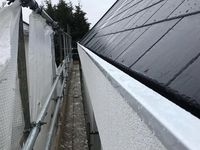 Aluminium Pressed On Site To Line The Concealed Gutter And Cap The Parapet Wall Aluminum Roof Parapet Gutter