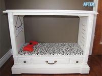 Dog beds & feeders