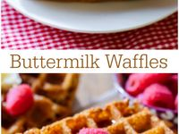 ... Waffles on Pinterest | Buttermilk waffles, Waffle recipes and Easy