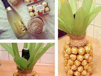 букеты из конфет, фруктов и прочее