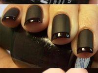 Black Matte Nail Designs
