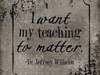 I was born to teach.