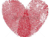 Fingerprint heart tattoo