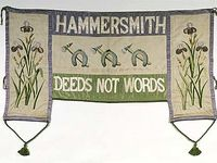 women's suffrage/political/artist's  banners, posters and quilts