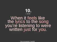 Lyrics I can relate to....