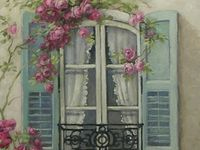 French Country shabby chic Romantic Roses