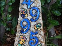 Home Decor! - DIY Mosaic House Numbers