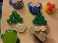 Flip cap badges