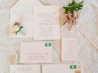 Beautiful, minimalist wedding stationary