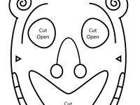 Teaching masks and mask templates on pinterest drama for Ancient greek mask template