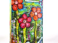 art journals: mixed media paintings.