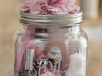 Decorative jars and gifts in a jar