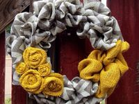 I've recently started making burlap wreaths. I'm just looking for new/different ideas. I've sold a few, and hope to seep more when work slows down during the summer!