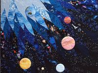 1000 images about quilts on pinterest outer space for Space shuttle quilt