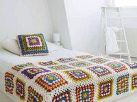 Crocheting- knitting at home