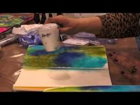 using dylusions spray inks and distress inks to create art