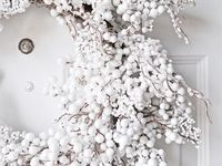 White Christmas Wreaths and Trees