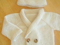 Suéteres niños / vestido crochet y tela