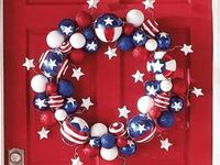 Everything in the wonderful colors of our great nation....celebrate America with food, decoration, and more!