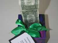 Novel ways to give cash as a gift.