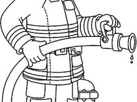 busy firefighter coloring pages | 41 best images about School: brandweer/ politie on ...