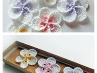 crochetted flowers