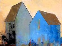 Abstract houses paintings