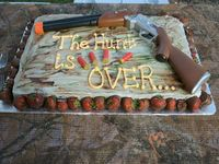The Hunt is Over- Grooms Cake