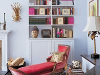 bookshelves to die for...