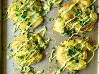 ... on Pinterest | Garlic aioli, Skirt steak and Crispy smashed potatoes