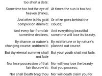 Sonnet 18 By William Shakespeare Summer S Day Paraphrase English Book