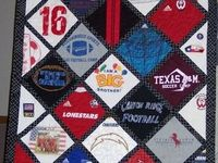 Tons of examples of t-short quilts