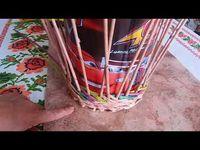 бумажные трубочки плетение